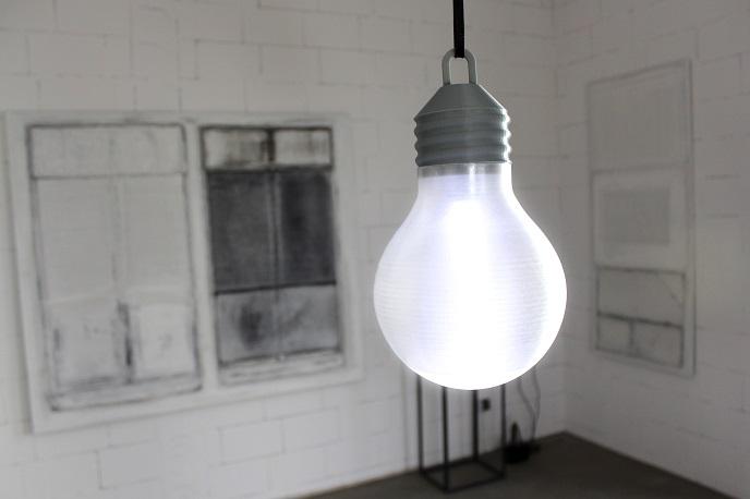 ZORTRAX 3D Printed Lightbulb Z-GLASS