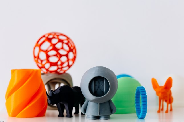 Colorful models of 3D printed toys by Zortrax