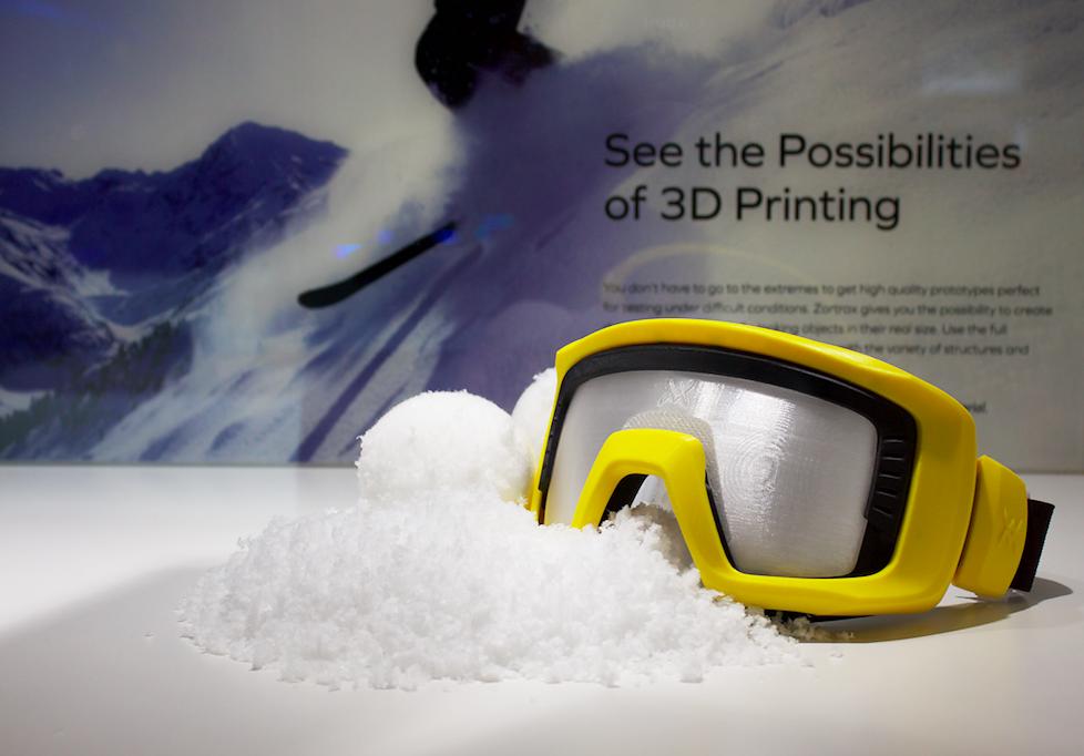 ZORTRAX Paris 3D Printshow 2015 3D Printed Ski Goggles