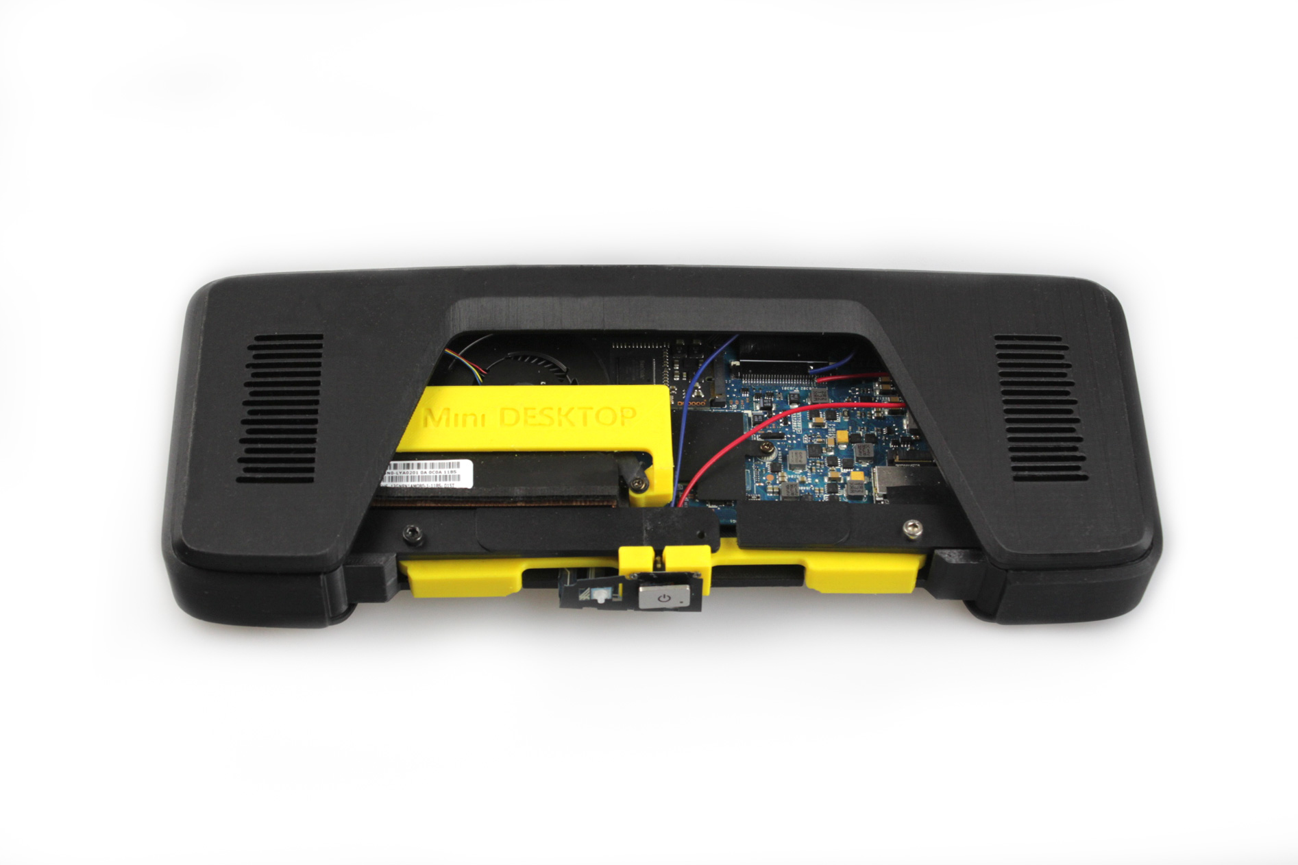 ZORTRAX Mini Computer 3D Printed Case Inside