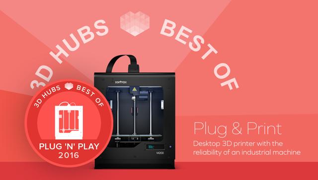 ZORTRAX M200 Top Printer Plug Play 3D Hubs