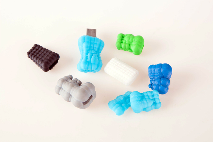 ZORTRAX 3D-printed colorful models
