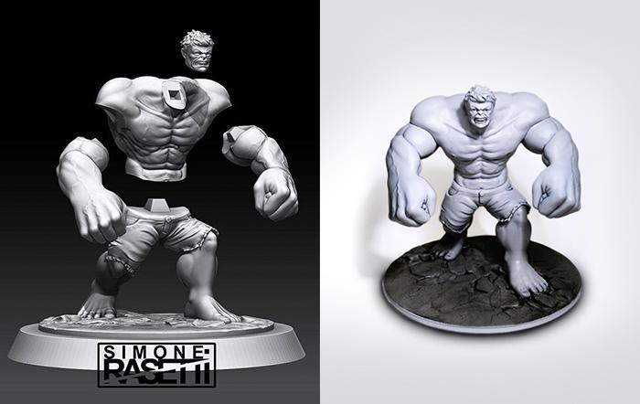 ZORTRAX 3D Printed Hulk Figure Simone Rasetii