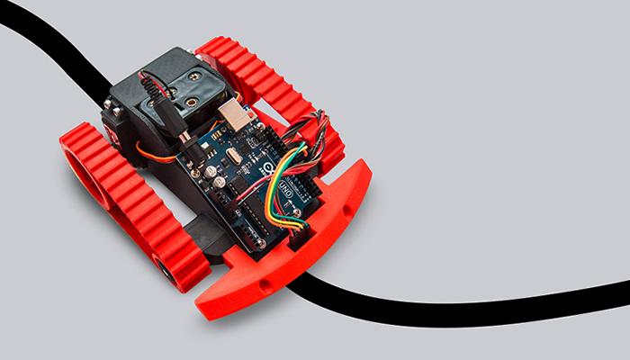 ZORTRAX 3D Printed Line Follower