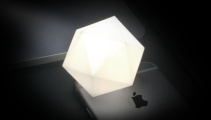 ZORTRAX Library Joe Bowers 3D Printed Smartphone Lamp