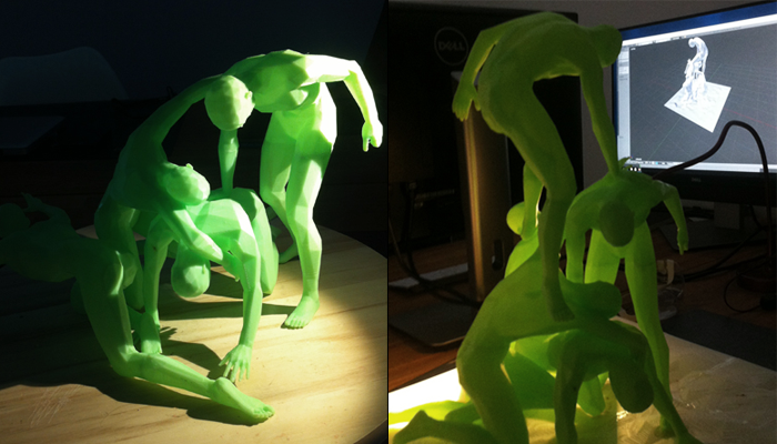 ZORTRAX 3D Printed Sculpture Marcello Silvestre