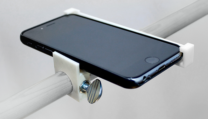 ZORTRAX Library Joe Bowers 3D Printed Smartphone Clamp