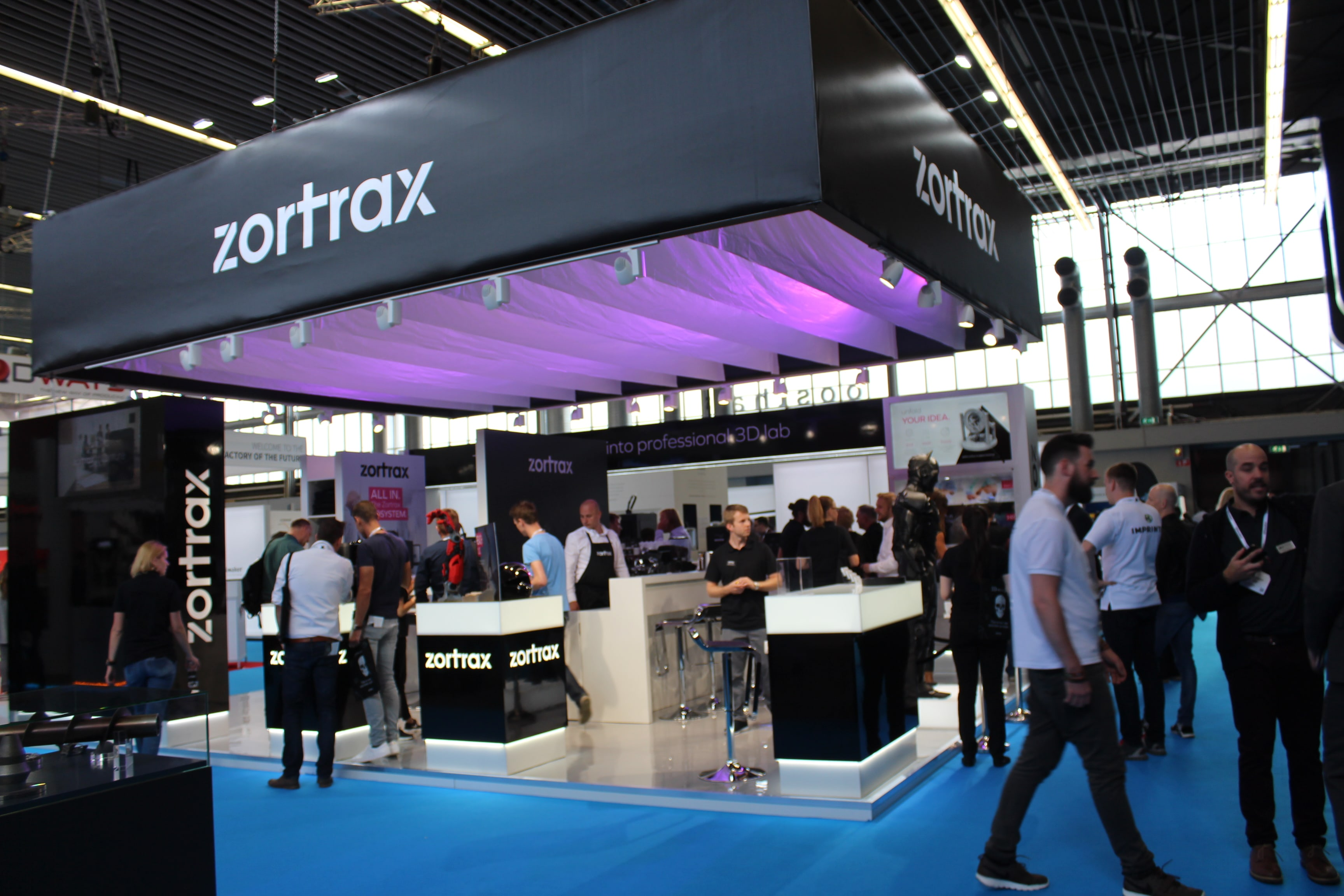 Zortrax's booth at an event