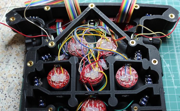 ZORTRAX 3D Printed F1 Steering Wheel Inside