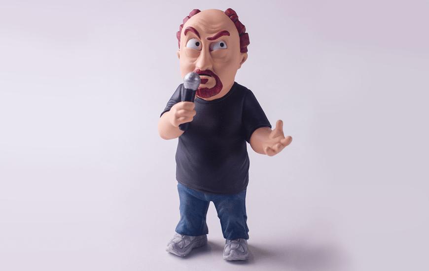 ZORTRAX 3D Printed Louis CK Comedian Figurine