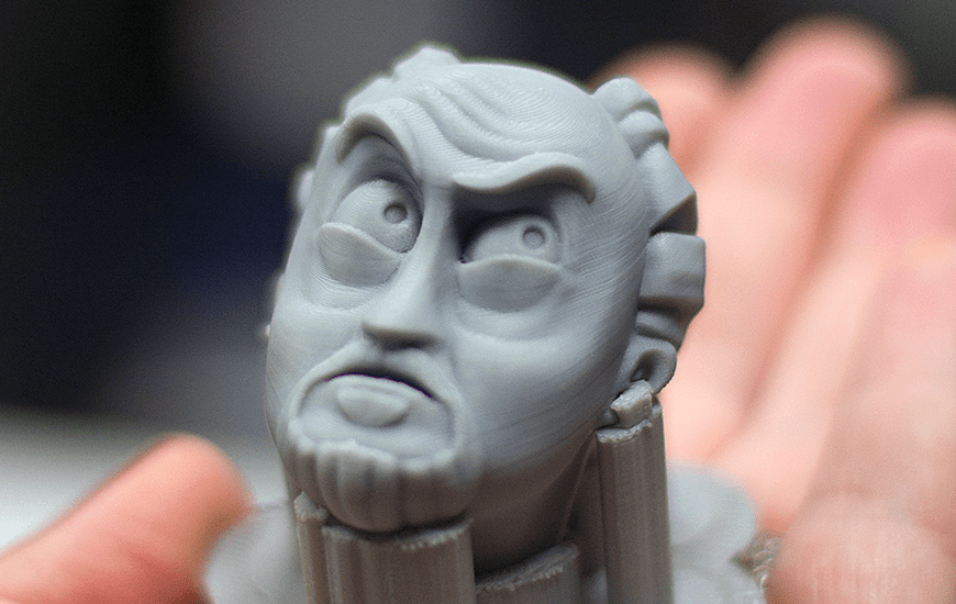ZORTRAX 3D Printed Louis CK Face Figurine