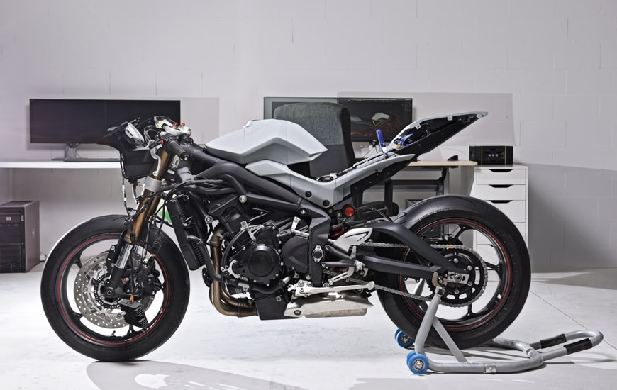 ZORTRAX Motorcycle Standing in the Workshop