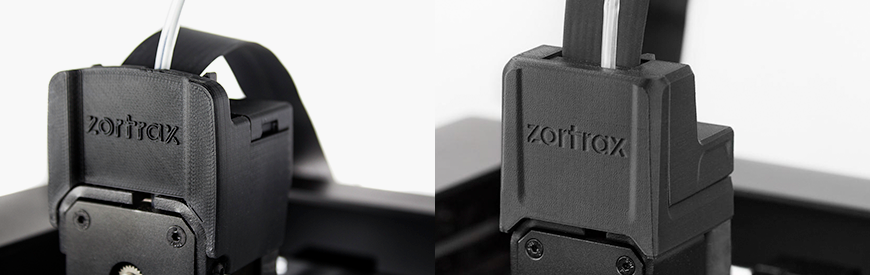 ZORTRAX Extruder Cover V2 Comparison