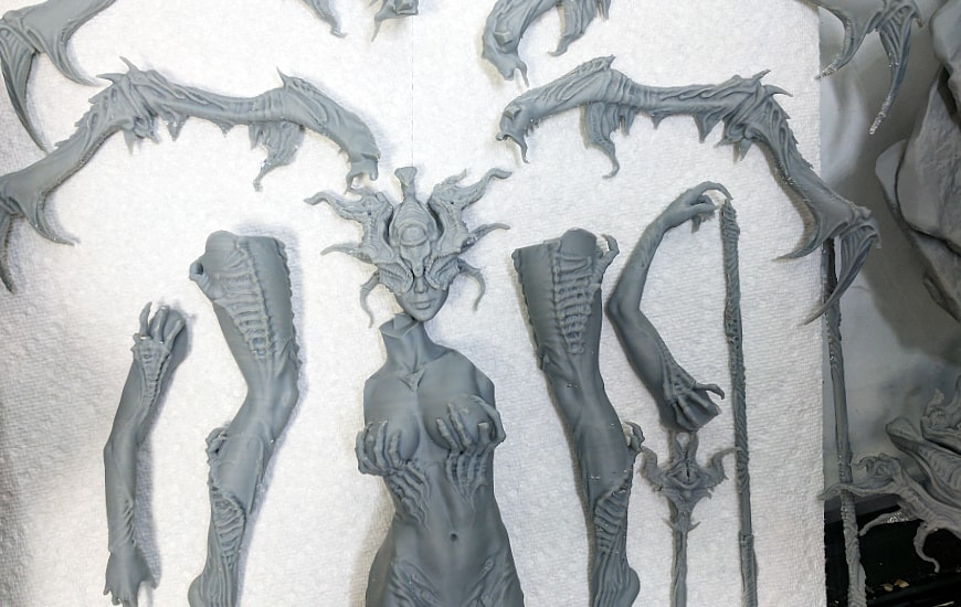 ZORTRAX Nikita Lebedev Corrupted Watcher 3D Printed Parts