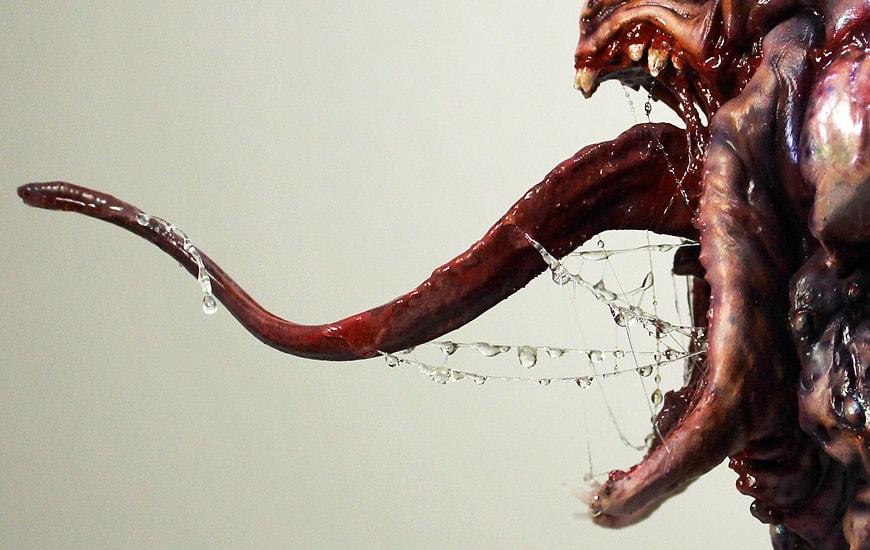 ZORTRAX Nikita Lebedev 3D Printed Alien Spitter Statue
