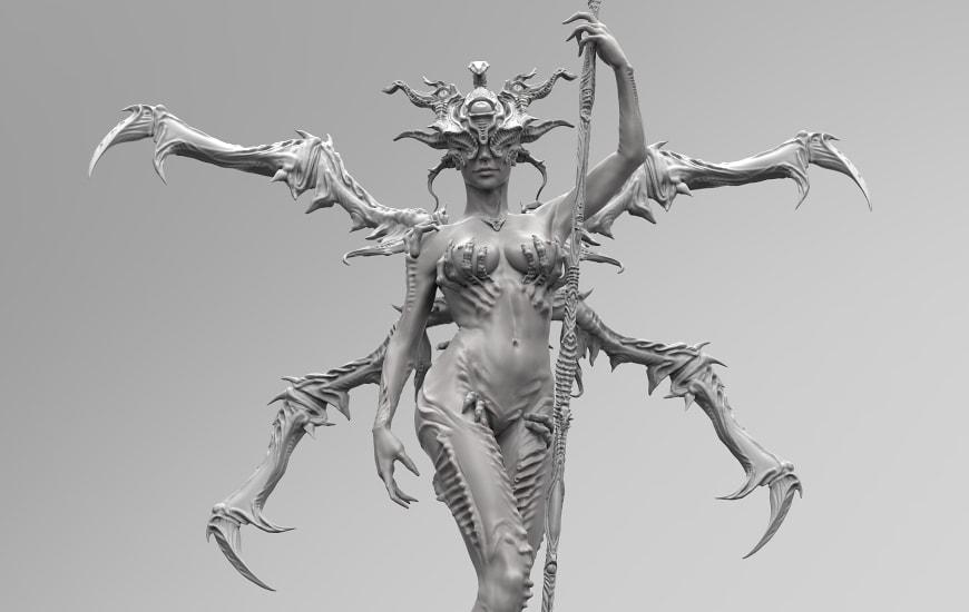 ZORTRAX Nikita Lebedev Corrupted Watcher 3D Model