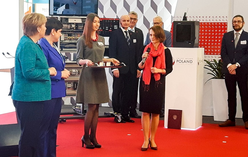 ZORTRAX 3D Printer Hannover Beata Szydlo Angela Merkel