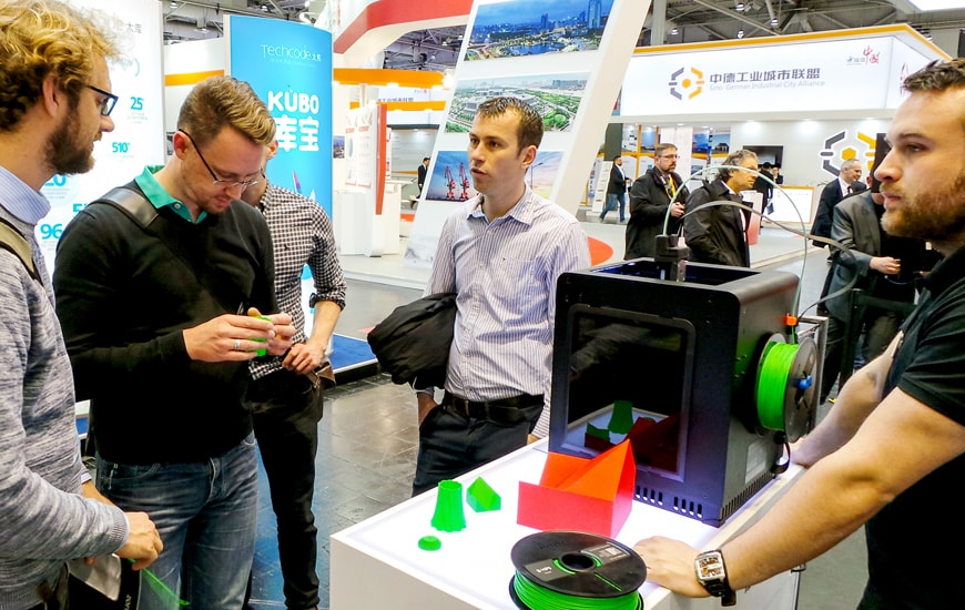 ZORTRAX 3D Printer Hannover Messe Stand