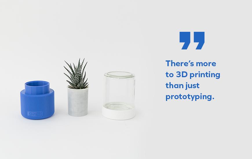 ZORTRAX 3D Printed vase UAU