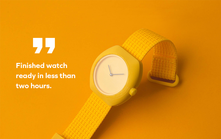 ZORTRAX Notaroberto-Boldrini 3D Printed Yellow Watch