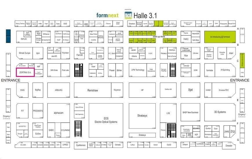 ZORTRAX Formnext Halle 3.1 Floor Plan