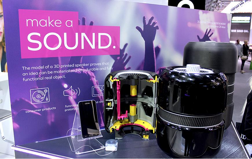 ZORTRAX 3D printed speaker