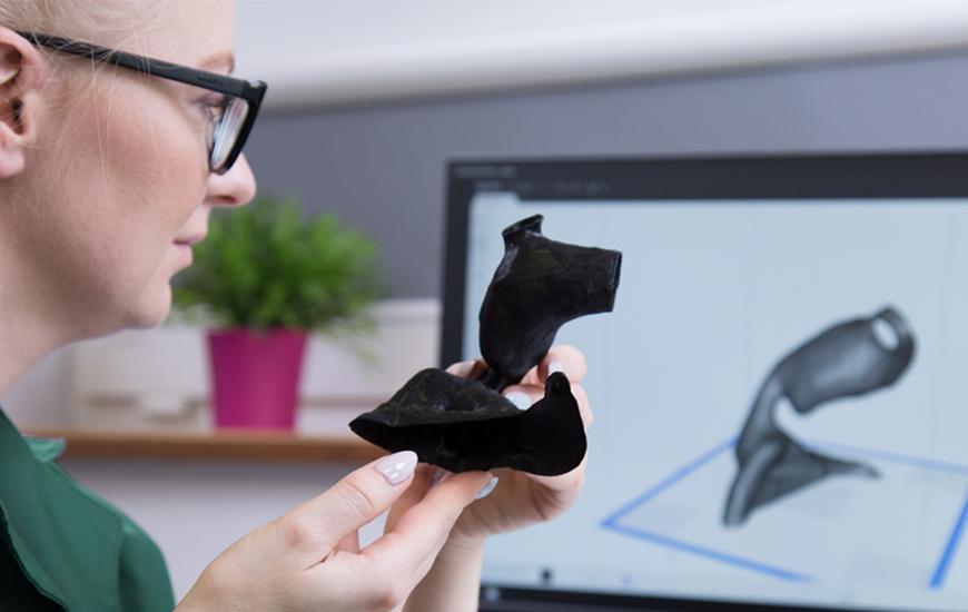 ZORTRAX Case Study GUM homograft model 3D printed with Z-SEMIFLEX