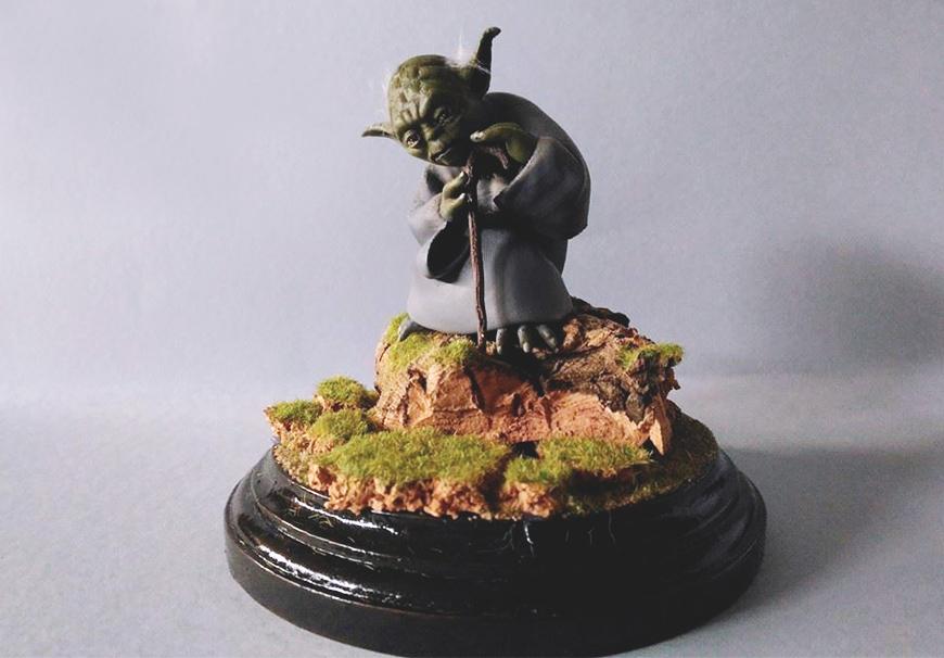 ZORTRAX Fabio Rizzo 3D Printed Yoda