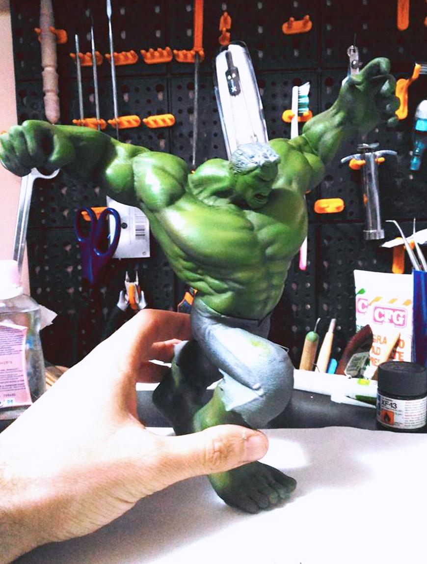 ZORTRAX Fabio Rizzo 3D Printed Hulk WIP