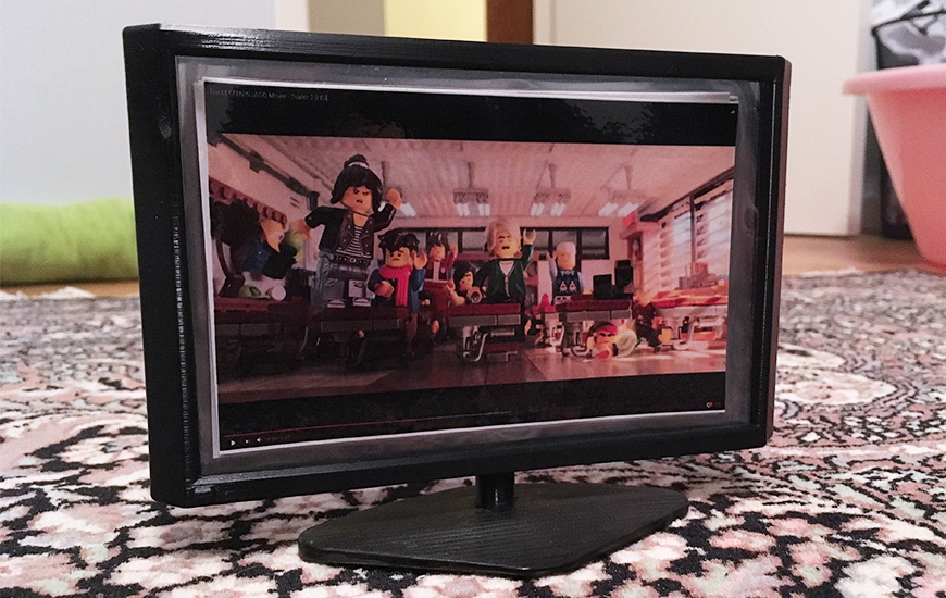 ZORTRAX 3DPrinted TV set