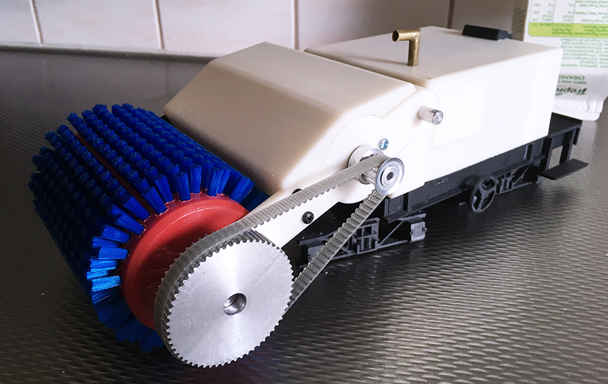 ZORTRAX 3D Printed railcar model