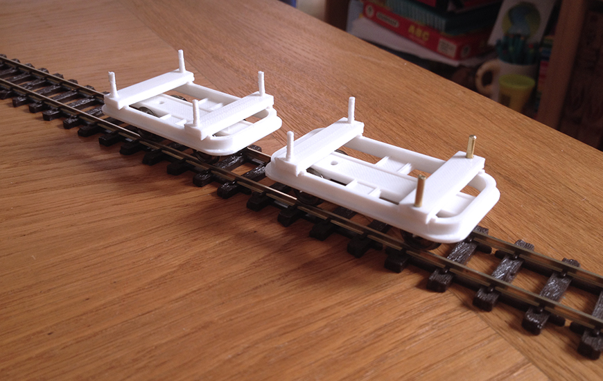 ZORTRAX 3DPrinted railroad cars model