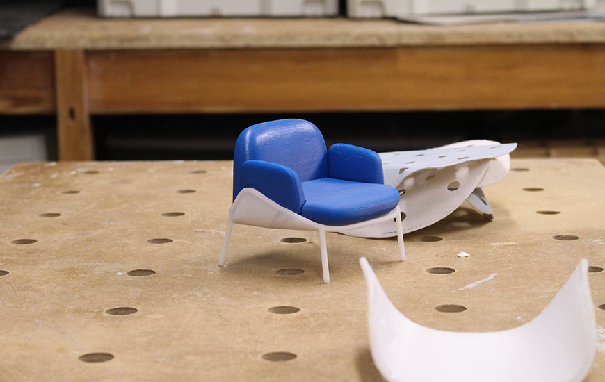ZORTRAX_3D printed chair model