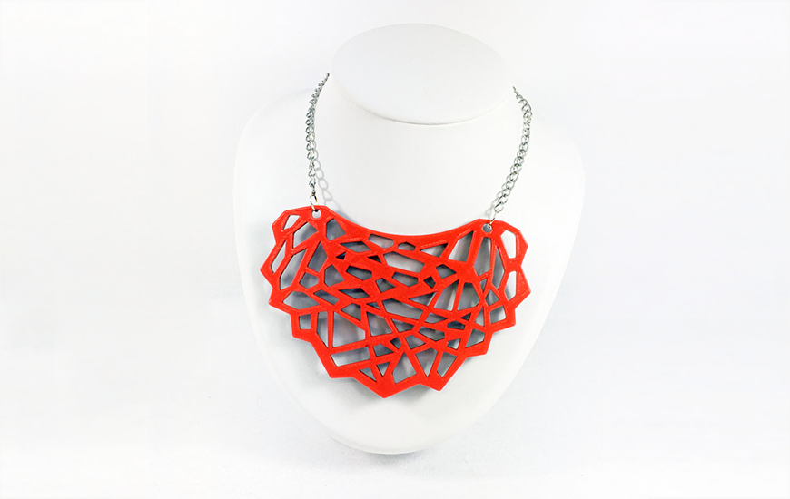 ZORTRAX 3D Printed Jewelry Cambiamente red