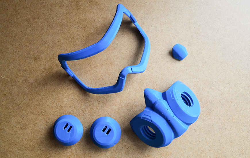 ZORTRAX 3D Printed Mask Tracer Z-ABS