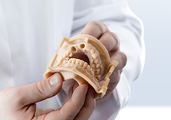 Dental setup models 3D printed on Zortrax Inkspire with Zortrax Resin DENTAL MODEL are used to properly adjust crowns, bridges, or other dental appliances prior to their placement in the patient's oral cavity.