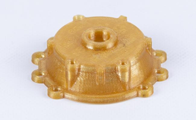 Sztywna i wytrzymała obudowa sprężarki powietrza wydrukowana z Z-PEI 1010 na drukarce 3D Zortrax Endureal.